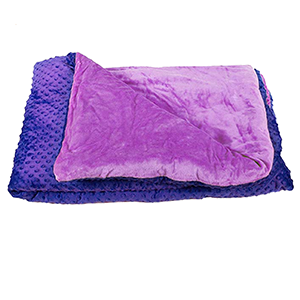 Purple weighted blanket for kids
