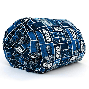 Mosaic weighted blanket that is Star Wars themed